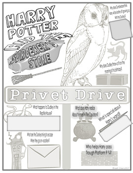Harry Potter and the Sorcerer's Stone Color-Fill Film Guide