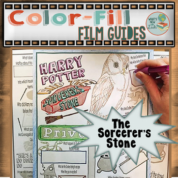 Harry Potter and the Sorcerer's Stone Color-Fill Film Guide Doodle Notes