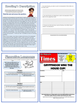 Harry Potter and the Sorcerer's Stone Comprehension Activities Booklet! (G3-5)