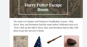 Digital Escape Room: Harry Potter and the Sorcerer's Stone