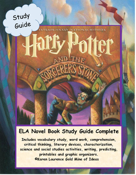 Harry Potter and the Sorcerer's Stone ELA Novel Study Guide COMPLETE!