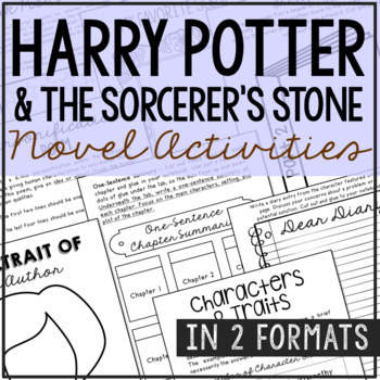 Harry Potter and the Sorcerer's Stone Interactive Notebook Novel Unit Study