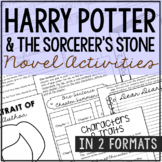 HARRY POTTER AND THE SORCERER'S STONE Novel Study Unit Activities, Book Report