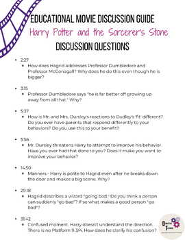 Harry Potter and the Sorcerer's Stone Movie Discussion Guide