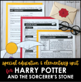 Harry Potter and the Sorcerer's Stone Novel Study | Special Education & Gr. 2-3
