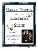 Harry Potter and the Sorcerer's Stone Parent Permission Form