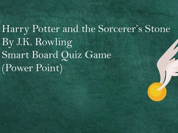 Harry Potter and the Sorcerer's Stone Power Point Quiz Game