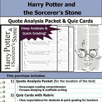 Harry Potter and the Sorcerer's Stone - Quote Analysis & Reading Quizzes