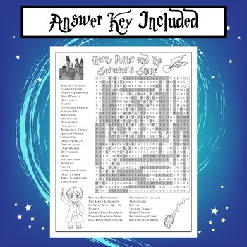 Harry Potter and the Sorcerer's Stone Word Search