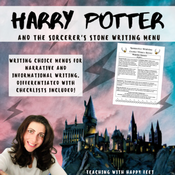 Harry Potter and the Sorcerer's Stone Writing Choice Menu