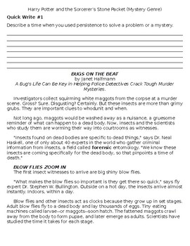 Harry Potter and the Sorcerer's Stone comprehension and skills packet