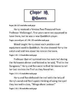 Harry Potter and the Sorcerer's Stone curriculum Chapter 10.