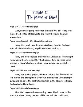 Harry Potter and the Sorcerer's Stone curriculum Chapter 12.