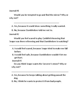 Harry Potter and the Sorcerer's Stone curriculum Chapter 13.