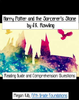 Harry Potter and the Sorcerer's Stone reading guide/comprehension questions