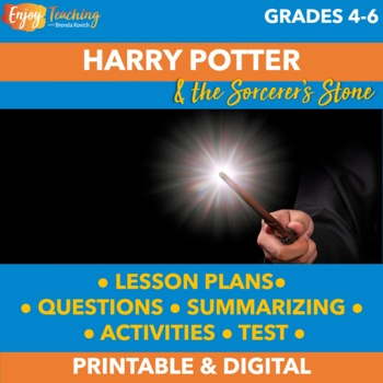 Harry Potter and the Sorcerer's Stone Fun Novel Unit