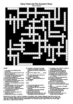 graphic relating to Harry Potter Crossword Puzzle Printable called Harry Potter and the Sorcerers Stone: Huge Enjoyment Crossword
