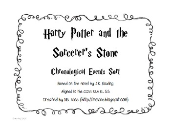 Harry Potter and the Sorcerer's Stone Chronological Order Sort Freebie