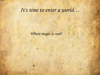 Harry Potter and the Sorcerer's Stone Introduction