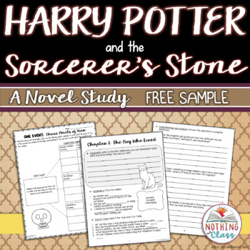 Harry Potter and the Sorcerer's Stone Novel Study Unit: FREE Sample