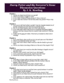 Harry Potter and the Sorcerers Stone Discussion Questions Activity