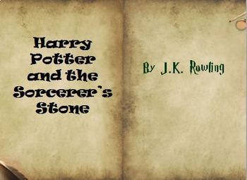Harry Potter and the Sorcerers Stone Novel Study Bundle