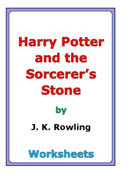 """""""Harry Potter and the Sorcerer's Stone"""" worksheets"""