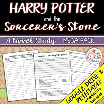 Harry Potter and the Sorcerer's Stone Novel Study Unit