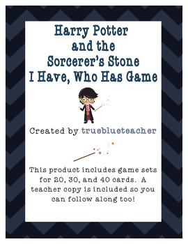 Harry Potter and the Sorceror's Stone I Have, Who Has Game