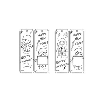 Harry Potter DIY - Bookmarks for parents and family – Christmas gift