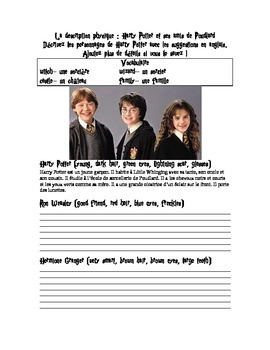 Harry Potter et la description physique