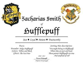 Harry Potter house awards