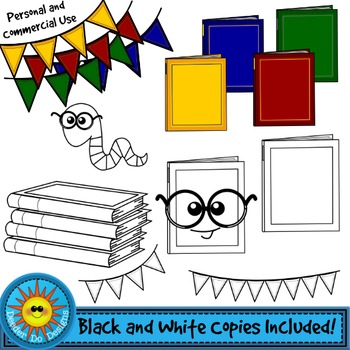 Book Worms Clip Art Set