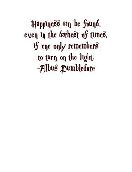 "Harry Potter ""light"" quote"