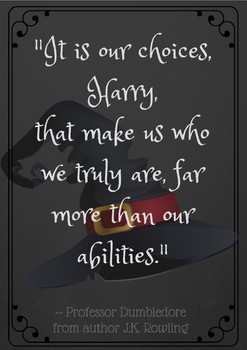 Harry Potter quote poster - It is our choices who make us who we are