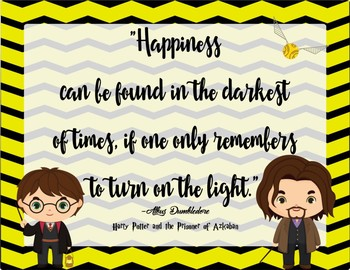 Harry Potter quotes Classroom Decoration