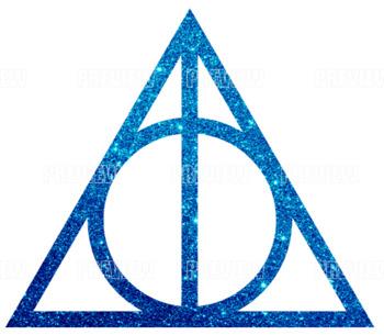 Harry Potter & the Deathly Hallows Glitter Clip Art