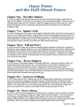 Harry Potter & the Half-Blood Prince Chapter Summaries