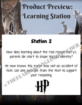 Harry Potter & the Sorcerer's Stone Chapters 1-4 Activity: Learning Stations