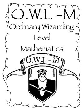 Harry Potter theme title pages/book covers -OWLS