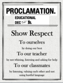 """Harry Potter themed """"Educational Decree"""" Expectation posters"""