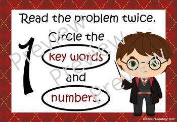 Harry Potter themed Maths Problem Solving Prompts