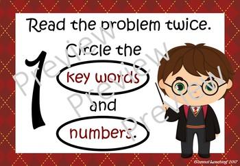 Maths Problem Solving Prompts:  Harry Potter theme