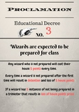 Harry Potter themed Proclamation 3