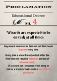 Harry Potter themed Proclamation 4