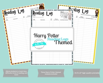 Harry Potter-themed Reading Logs