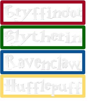 Harry Potter themed desktop name tags!