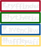 Harry Potter themed desktop name tags!