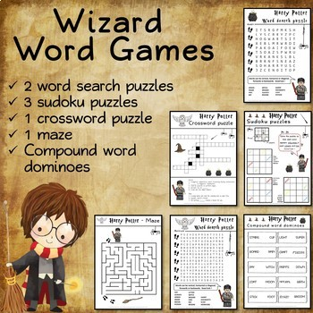 Word games for Harry Potter fans