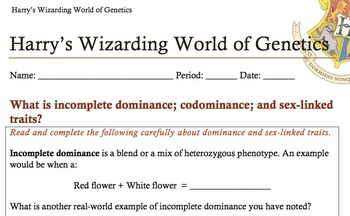 "Harry Potter Science ""Wizarding World of Genetics"""